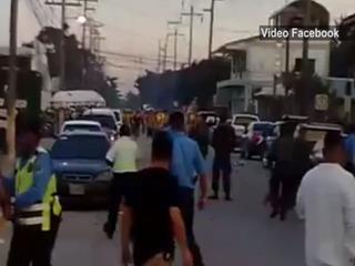 Aficionados del Real España causan disturbios en Puerto Cortés