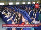 Graduados despiden a la Normal Mixta del Valle de Sula