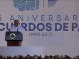 El Salvador conmemora 25 años de los acuerdos de paz, con saldo de reparación pendiente