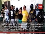 Capturan a cuatro presuntos extorsionadores en San Pedro Sula