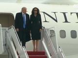 Trump llegó a Washington para su investidura
