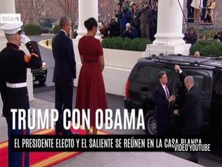 Barack Obama recibe a Donald Trump en La Casa Blanca