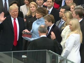 Trump juró como presidente de EEUU