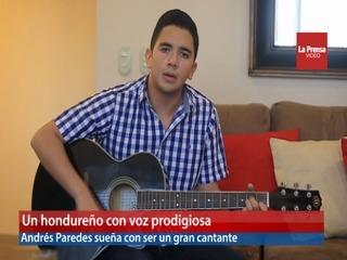 Un hondureño con voz prodigiosa