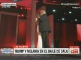 El baile de Donald y Melania Trump