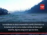 Con capa de hielo amanecen carros en La Esperanza, Intibucá