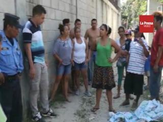Policía mata a joven en Choloma y los vecinos tratan de lincharlo