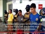 Capturan a tres supuestos extorsionadores en San Pedro Sula