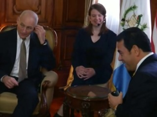 John Kelly se reúne con presidente de Guatemala