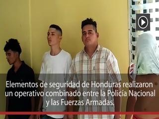 Capturan a supuesta banda de sicarios en La Lima