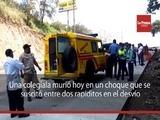 Una colegiala murió hoy en un choque entre dos rapiditos en Santa Cruz de Yojoa