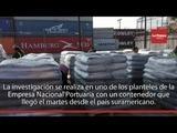 Muestras a sacos de contenedor decomisado dan positivo para droga