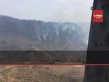 Con helicópteros apagan incendio en El Picacho y El Hatillo
