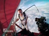 Deportista extremo tira su paracaídas y se lanza a 4,000 metros de altura