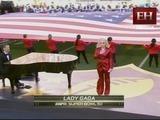 La entonación del Himno de EEUU interpretado por Lady Gaga
