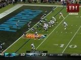 Broncos convierte los 2 touchdown y consigue los 24 puntos (10 - 24)