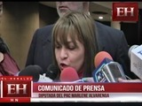 Diputada Marlene Alvarenga brinda comunicado de prensa