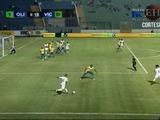 Carlo Costly abre el marcador  ante el Victoria 1-0