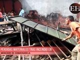 Pérdidas materiales tras incendio en mercado de Comayagüela