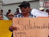 Pobladores protestan en apoyo a implicados en crimen de Cáceres