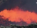 Acá la poderosa laguna de lava volcánica en Nicaragua