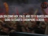 Un día como hoy Barcelona gana en Wembley su cuarta Champions League