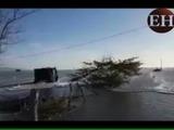 Amenaza por la marea alta en las playas del sur de Honduras