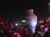 Así celebran los chilenos el bicampeonato en Copa América