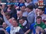 Chiellini abre el marcador para Italia que ya vence a España