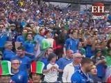 Italia vence a España en la primera mitad del encuentro
