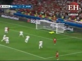 Con fuerte disparo Portugal empata el partido ante Polonia