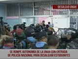 Policía Nacional realiza desalojos simultaneos en la UNAH