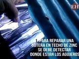 Como reparar las angustiosas goteras en un techo de zinc