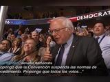 Clinton nominada por aclamación gracias a Sanders