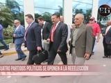 Oposición política acude a Casa Presidencial para entregar documento a JOH