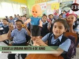 Estudiantes del tercer grado de la Escuela Urbana Mixta 4 de Junio invitan a donar juguetes este día del niño