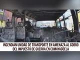 Incendian unidad de transporte rapidito en Comayagüela