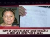 Dejan en libertad a alcaldesa de Concepción de María, Choluteca