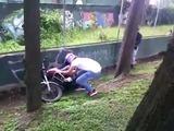 Queman motocicleta de supuesto ladrón capturado infraganti