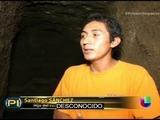 Salvadoreño cava un profundo túnel por