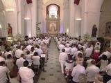 Celebran ceremonia religiosa en Cartagena por la paz en Colombia