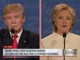 Debate presidencial entre Clinton y Trump termina sin apretón de manos