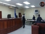 Kevin Solórzano llega a los Tribunales para su juicio