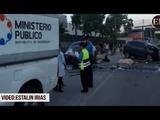 Dos muertos y un herido en accidente frente al BCH