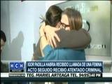 Esposa del periodista Igor Padilla al enterarse de su fallecimiento
