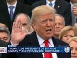Donald Trump es juramentado como el 45° presidente de EEUU