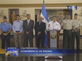 Por medio de dicha exposición, el presidente de Honduras, Juan Orlando Hernández, en conjunto de autoridades de Seguridad, aseguran que sería sumamente trágico la no aprobación a las reformas penales en Honduras. (cortesía: TNH)