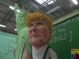 Trump, Merkel y Hollande, juntos en carnavales de Alemania