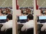 La violenta conducta de una mujer contra empleados de telefonía móvil