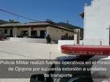 Ojojona militarizado por amenazas de extorsión a transportistas